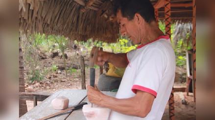 Pobladores de Mishquiyacu transforman sal en obras de arte