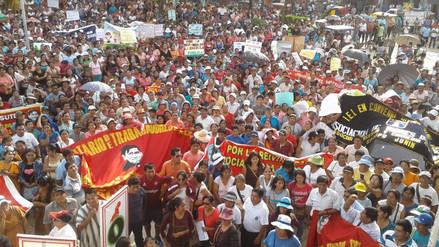 Padres y profesores protestaron en los exteriores de la Ugel de Satipo