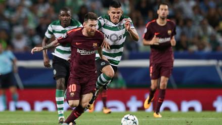 El Barcelona venció por 1-0 al Sporting Lisboa en la Champions League