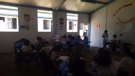 Alumnas de colegio Fátima volverán a su local en cuatro meses