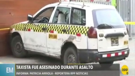 Asesinan a balazos a un taxista en Santa Anita