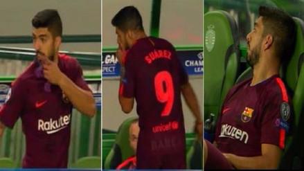 La polémica actitud de Luis Suárez al ser sustituido en la Champions League