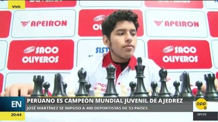 """Peruano campeón mundial de ajedrez: """"Se debe ayudar a todos los deportes, no solo a uno"""""""