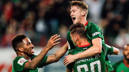 Jefferson Farfán celebró con el Lokomotiv Moscú en la Europa League