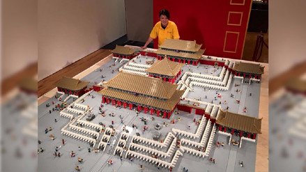 Recrean la Ciudad Prohibida de Pekín con más de 500,000 piezas de Lego