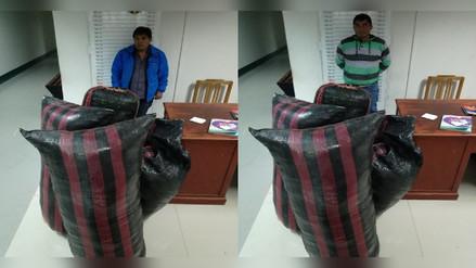 Policía incauta 152 kilos de hoja de coca en Chota