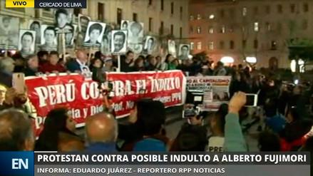 Cientos marcharon contra eventual indulto a Alberto Fujimori en Lima