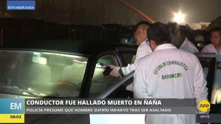 Hallan muerto a un conductor dentro de su automóvil en Ñaña