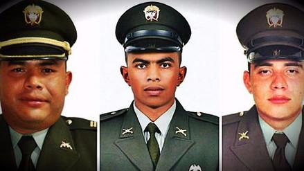 Tres policías colombianos fallecieron tras una emboscada