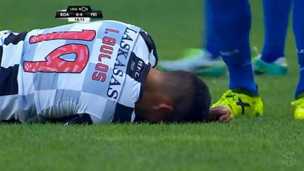 Iván Bulos no corre peligro tras salir golpeado en el partido del Boavista