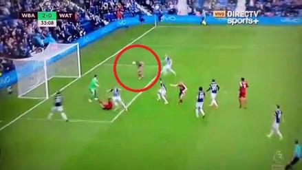 André Carrillo falló una ocasión de gol frente al arco del West Bromwich