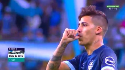 Beto da Silva marcó el gol del triunfo para Gremio ante Fluminense