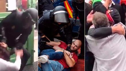 Videos | Represión, caos y esperanza en la jornada del referéndum de Cataluña