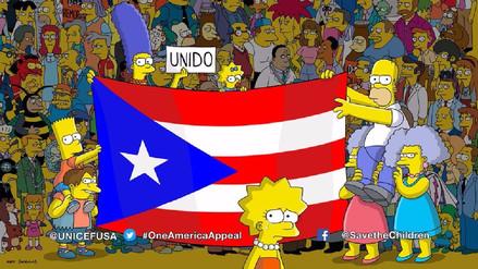 Los Simpson realizan homenaje a Puerto Rico