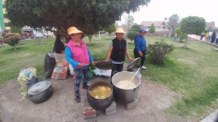 Obreros en huelga de Leonardo Ortiz realizan olla común