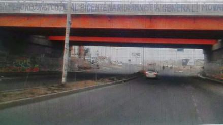 Aparecen pintas ligadas al Movadef en puente Chiclayo- Pimentel