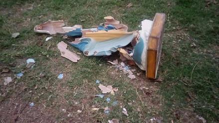Hombre destruye imagen de la Virgen de la Medalla Milagrosa en Vista Bella