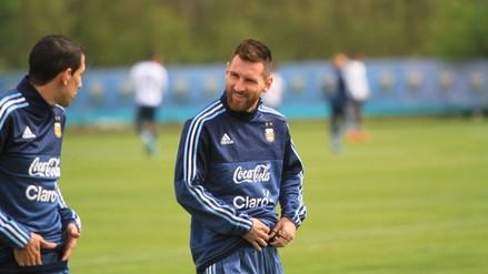 Así fue el primer entrenamiento de Lionel Messi con la Selección Argentina
