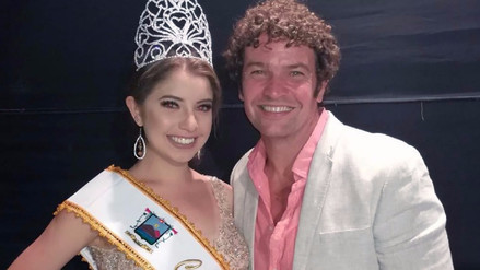 Orlando Fundichely felicitó a su hija por su coronación