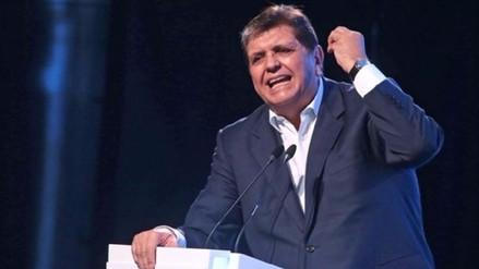 Alan García criticó a fiscal que lo investiga como líder de presunta organización criminal