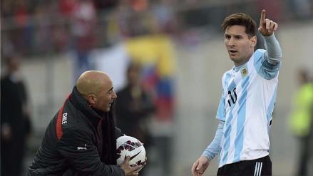 Sampaoli confesó que Lionel Messi jugará contra Perú como en el Barcelona