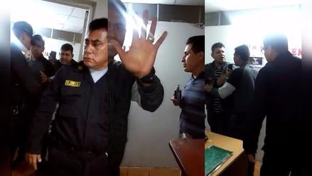 Ascope: Policías protagonizan escándalo en comisaría al ser detenidos