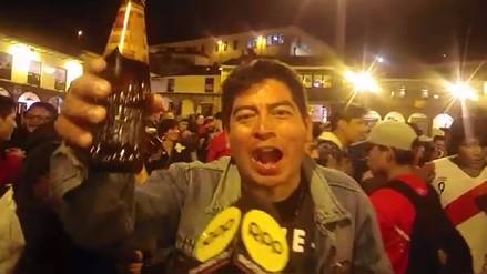 Turistas extranjeros y peruanos celebraron empate de Perú - Argentina