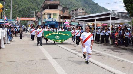 Satipo: Alcalde de Coviriali desfiló con la camiseta de la Selección