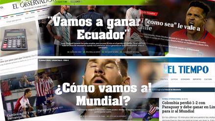 Las portadas de los diarios de los países con chances para ir al Mundial