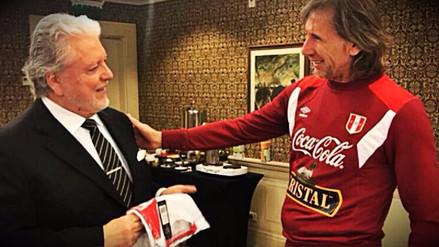 Embajador de Perú en Argentina visitó a la selección previo al partido