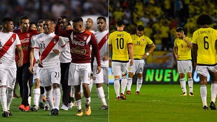 Las bajas de Perú y Colombia para el partido en el Estadio Nacional