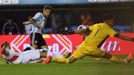 Las atajadas de Gallese que permitieron el empate de Perú en Argentina