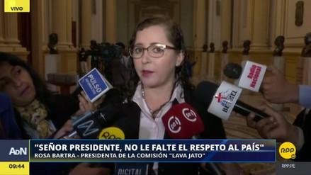 """Rosa Bartra a PPK: """"Señor presidente, colabore"""""""
