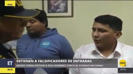 La Policía capturó a revendedores con entradas falsas para el Perú-Colombia