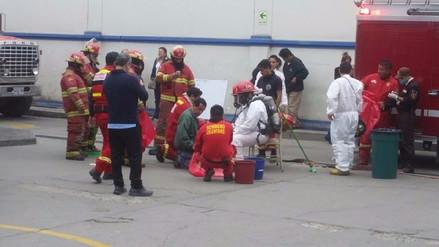 Trabajadores intoxicados tras fuga de amoniaco en fábrica de hielo
