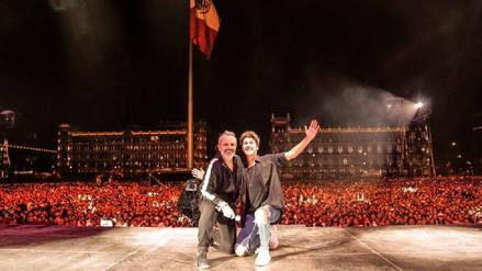 México: Bosé, Juanes y más cantaron para 170 mil por sismos