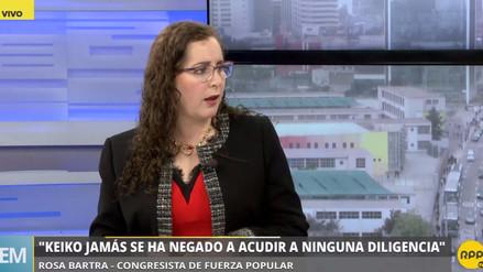 """Bartra: """"Ningún invitado de la comisión Lava Jato puede decir que se le ha insultado"""""""