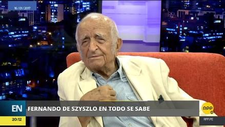 La última entrevista que dio Fernando de Szyszlo a RPP