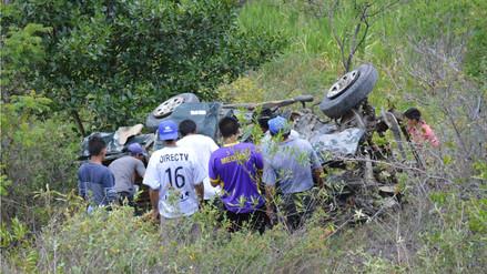 Despiste y vuelco de camioneta dejó un muerto en Cutervo