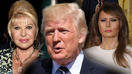 """Ivana Trump dijo que es """"la primera esposa, la primera dama"""" y Melania le respondió"""