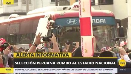 La Selección Peruana llegó al Estadio Nacional para enfrentar a Colombia