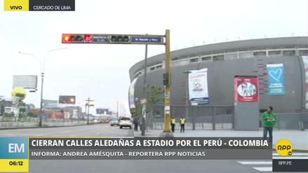 La Policía ya cerró el tránsito vehicular en los alrededores del Nacional