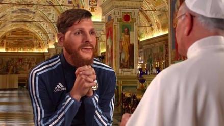 Lionel Messi le pide un milagro al Papa y a Jesús en una nueva parodia