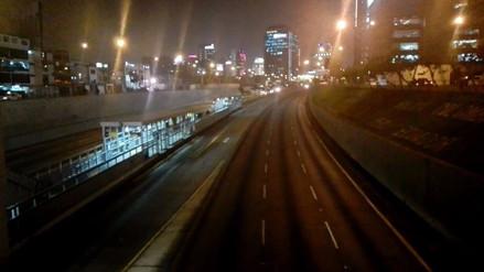 Calles de Lima lucieron vacías durante el Perú-Colombia