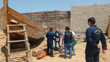 Chiclayo: clausuran astillero ilegal en distrito de Santa Rosa