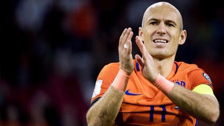 Arjen Robben se retiró de la selección de Holanda tras quedar fuera de Rusia 2018