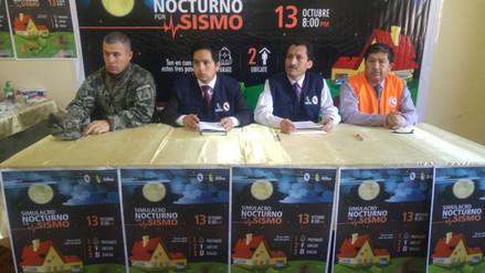 Cajamarca: piden participación activa en simulacro de sismo