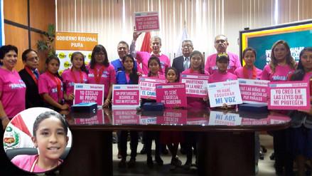 Niñas asumieron los cargos más importantes en Piura