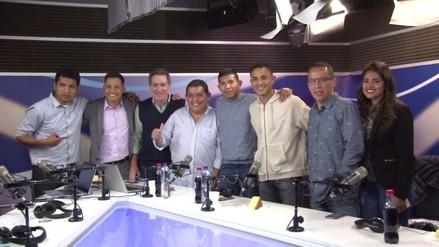 Así fue la visita de Yoshimar Yotún y Edison Flores a RPP Noticias