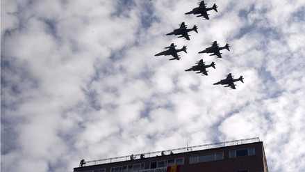 Un avión se estrelló al volver a su base tras el desfile del 12 de octubre en España
